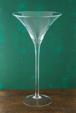 "20"" Tall Glass Martini Glass Vase"