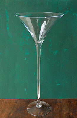 "Tall 27"" Glass Ritz Martini Vase"