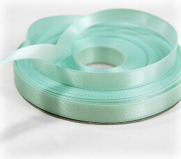 Mint Green Double Faced Satin Ribbon 3/8in x 25 yd
