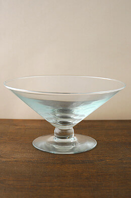 Floating Candle Bowl on Pedestal 10in