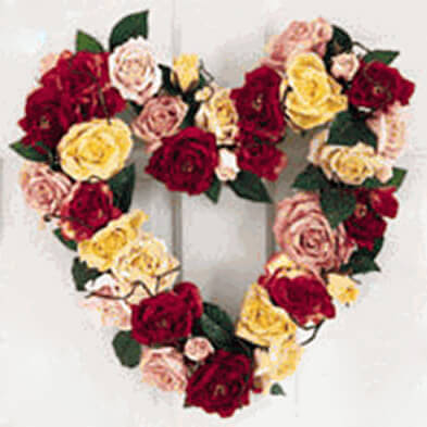 Heart Wreath Frames EZ Wreath Clamp Style 14in | 12 Ct