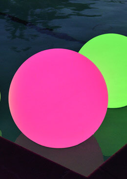 "16"" Orb LED Color Changing Light with Remote, lluminated Pool Orb Light,"