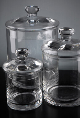 Clear Glass Canister Jars (Set of 3)