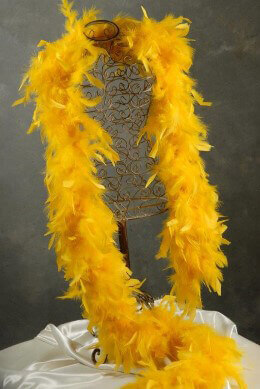 Chandelle Feather Boa 50 Gram | Gold