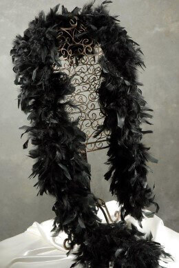 Chandelle Feather Boa 120gm | Black