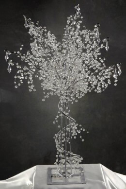 3' Crystal Wedding Trees