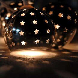 Punched Tin String Lights with Stars