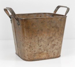 Copper Galvanized Planter Bucket