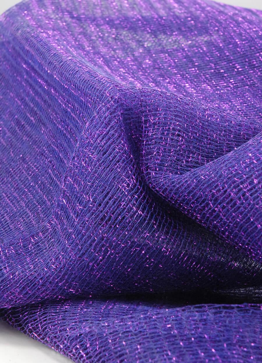 "Metallic Purple Netting 32"" width x 6 yards"
