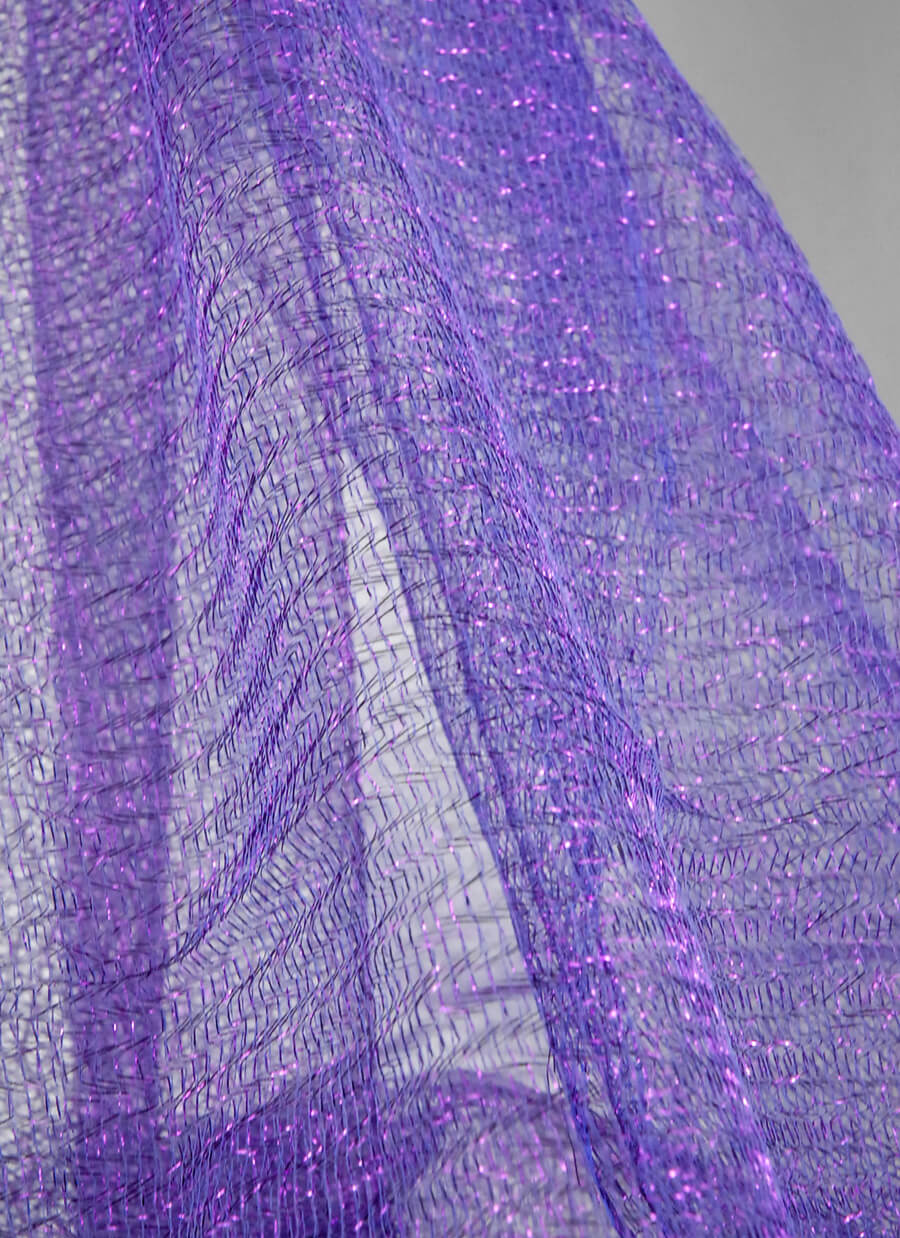 "Metallic Purple Netting 32"" width x 6 yards"