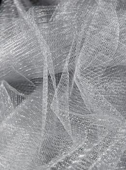 """Metallic Silver Netting 32"""" width (6yds)"""