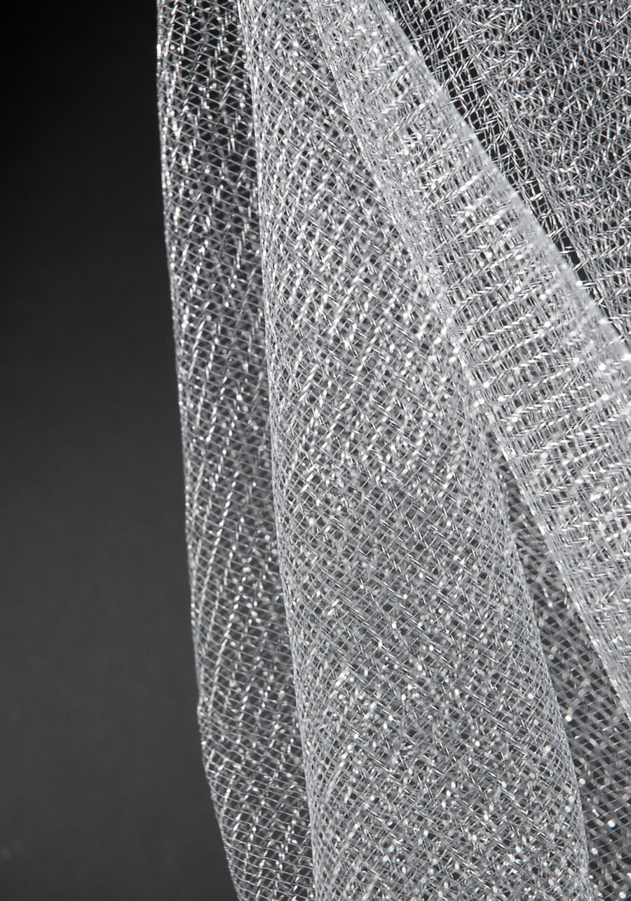 Metallic Silver Netting 32