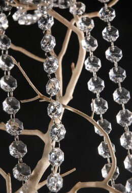 Hand Strung Crystal Garlands 5 Ft Long