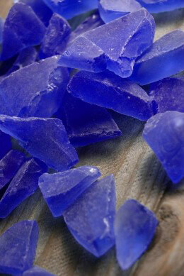 Blue Beach Glass 1 lb. bag