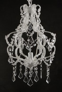 French Flea Market Inspired Crystal Chandelier Light SHIPS FREE