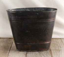 Oval Metal Bucket with Liner