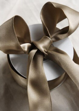 Champagne Double Faced Satin Ribbon 1.5in x 10 yd