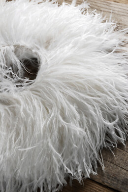 "Highest Quality Ostrich Feathers Trim White  7"" x 2 yards"