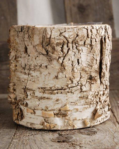 Birch Cylinder Pots  4.75in