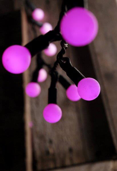 Color Changing String Lights With Remote : LED Color Changing Globe String Lights with Remote