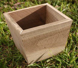 Small Tapered Wood Planter Box