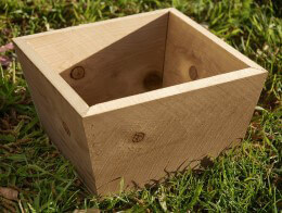 Medium Tapered Wood Planter Box