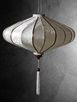 White Vietnamese Silk Lantern