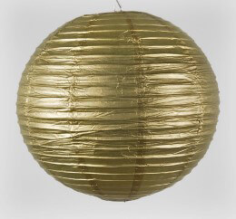 "20"" METALLIC GOLD  Paper Lanterns"
