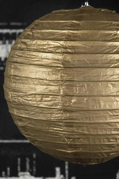 Metallic Gold 8 Quot Paper Lanterns