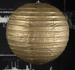 "8"" METALLIC GOLD  Paper Lanterns"