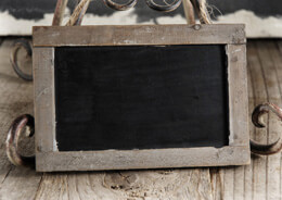 "Tiny Chalkboards with Wood Frames 3.75"" x 5.75"""
