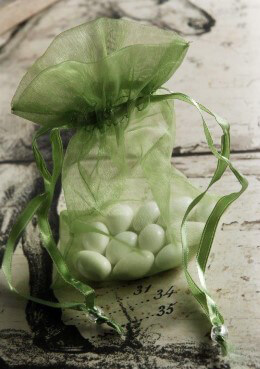 Olive Organza Sheer Favor Bags 36pc