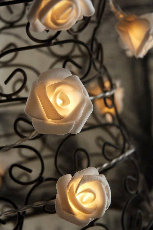 Led Rose String Lights : Rose String Lights LED in Warm White