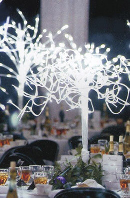 "Winter Spray - 48"" - White - Stage Lighting - Commercial Quality 20 branches"
