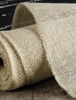 Burlap Fabric Roll 14in X 10yds White