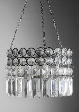 Hanging Candle Holder Crystal