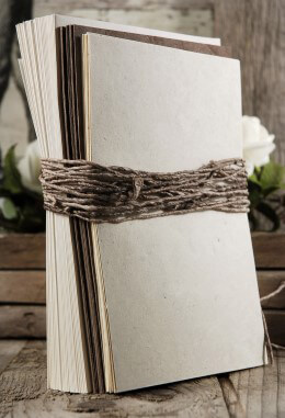 Sequoia Seeded Handmade Paper Wedding Invitation Kit,  25 invitations