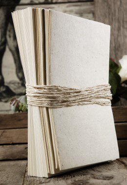 Birch Seeded Handmade Paper Wedding Invitation Kit,  25 invitations
