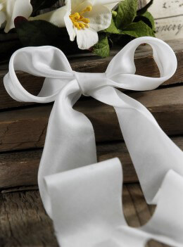 Silk Ribbon White 1.5in
