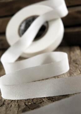 100% Silk Ribbon White 5/8in x 38yds, Earth Silk