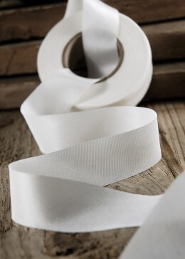 Silk Ribbon White 1in x 38yds