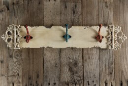 Shabby Chic Wall Coat Rack with Three Hooks