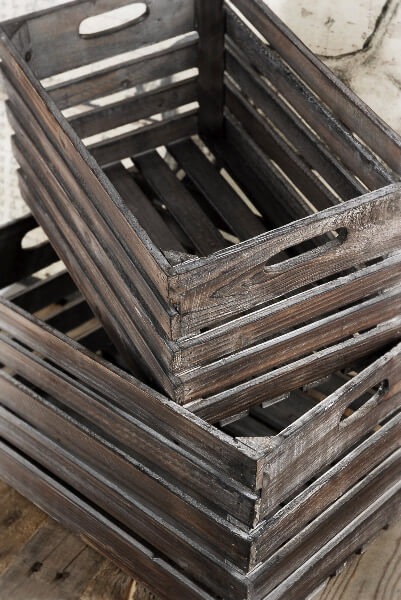 Wood Crate Set Of Two