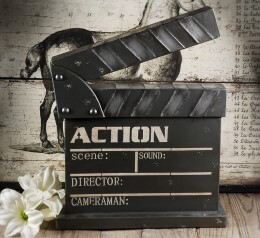 Decorative Metal Movie Set Clapper Board 14 x 18in