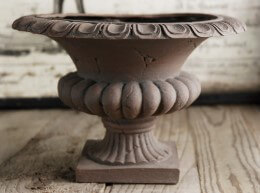 Flower Urn Vase Brown