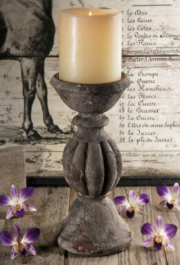 Stone Pillar Candle Holder Stand
