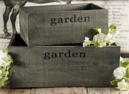 Wood Planter Box Set