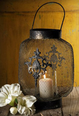 Hanging Metal Lantern Candle Holder