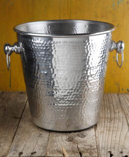 Hammered Metal Wine Cooler Bucket