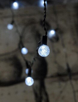 White LED String Lights 12 CT 6 FT Battery Operated Accents